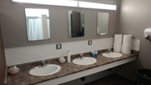 New sinks have been included in the washrooms