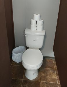 New Toilets have been replaced in the Bunkhouse
