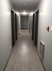 The halls all have new floors and walls repainted